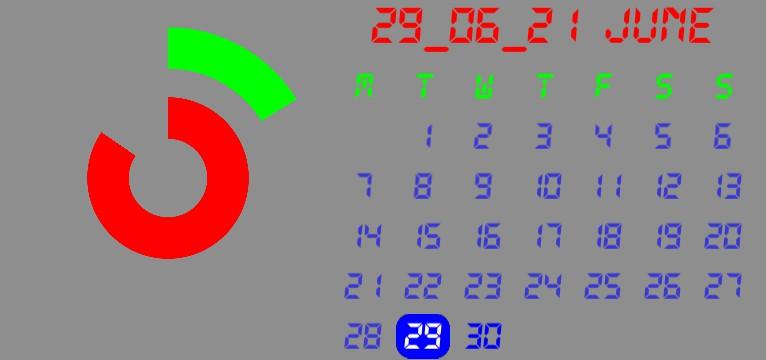 Calendar+clock