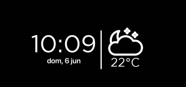 clock and weather