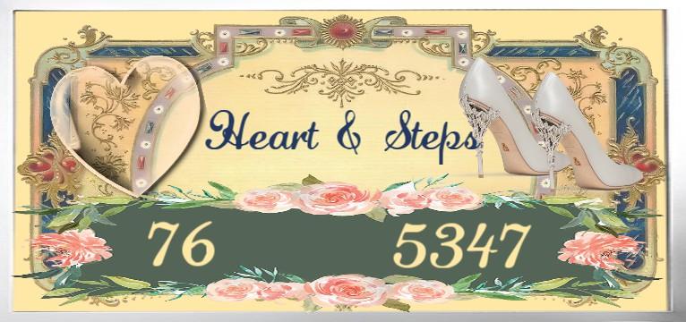 Herzschlag Schritte Vintage Rose