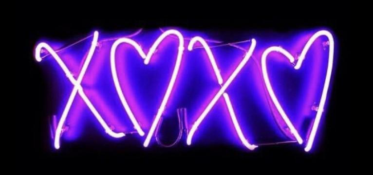 purple xoxo