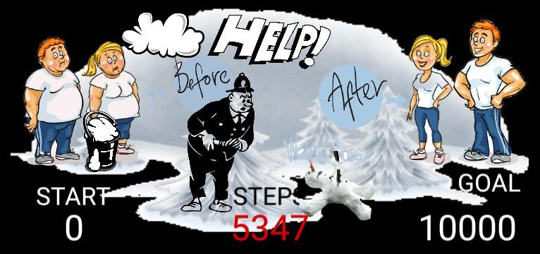 Steps Snowman