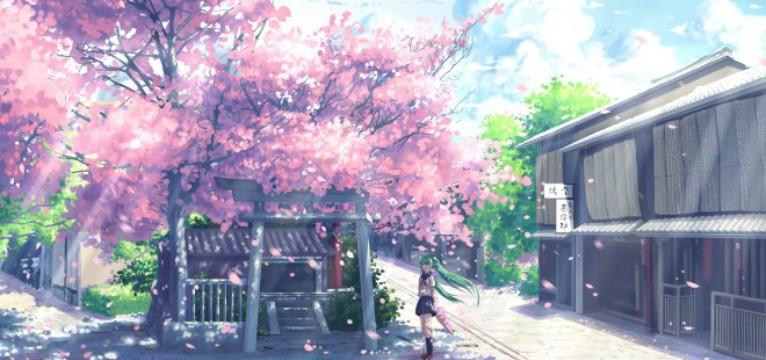 sakura cityscape