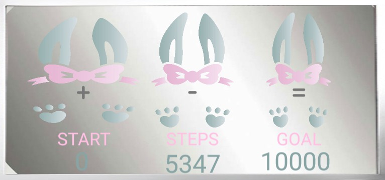 Step counter Ostern Hase