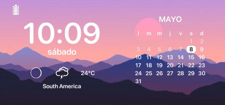 Calendar and hour