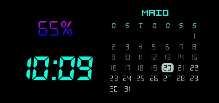 Battery, Hour and Calendar