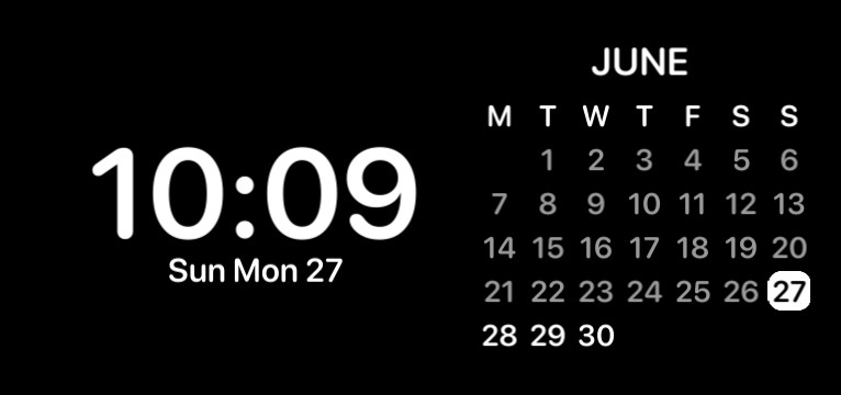 Time widget
