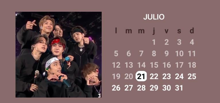 Calendar July 21 BTS OT7