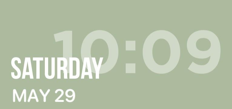 green medium time widget