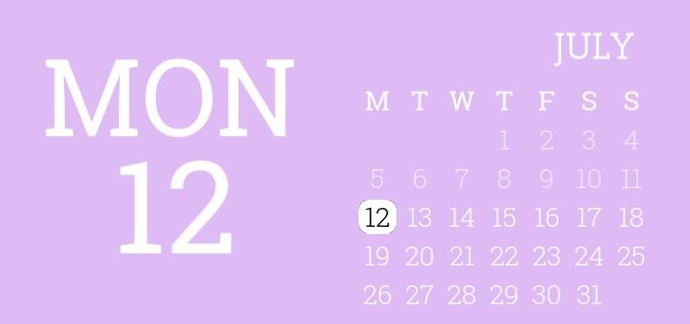 purple calendar and date widget