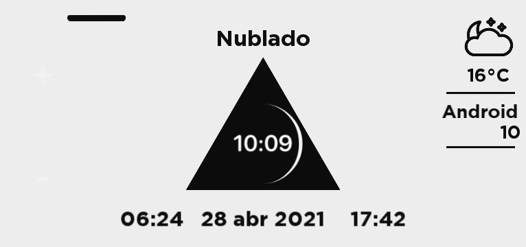 Black Triangle in White