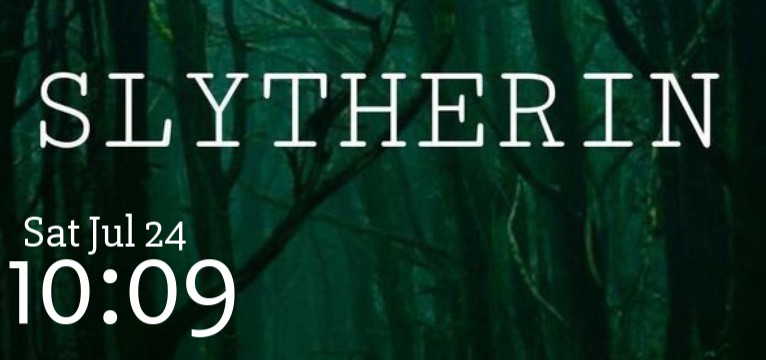 Slytherin time and date