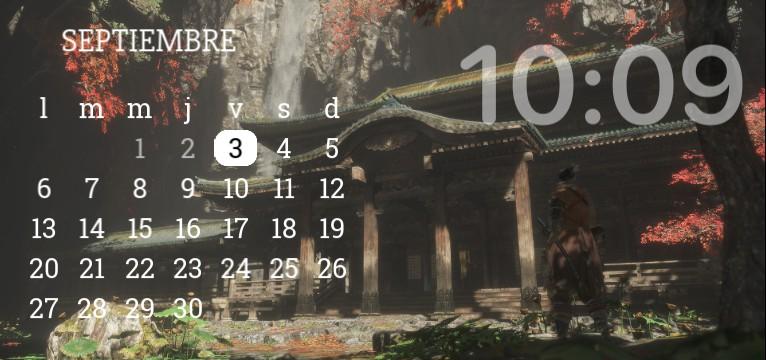 Sekiro clock/calendar