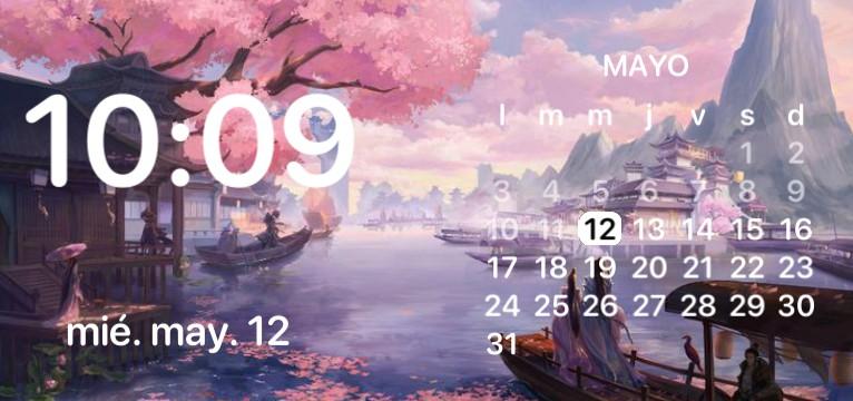 Anime clock with Calendar