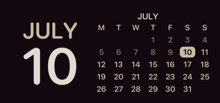 calendar brown