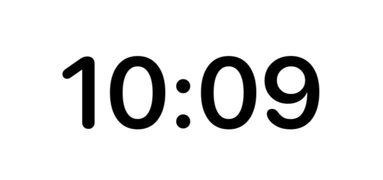 clock medium widget