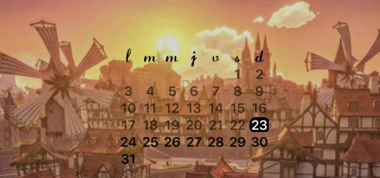 Mondstadt calendar