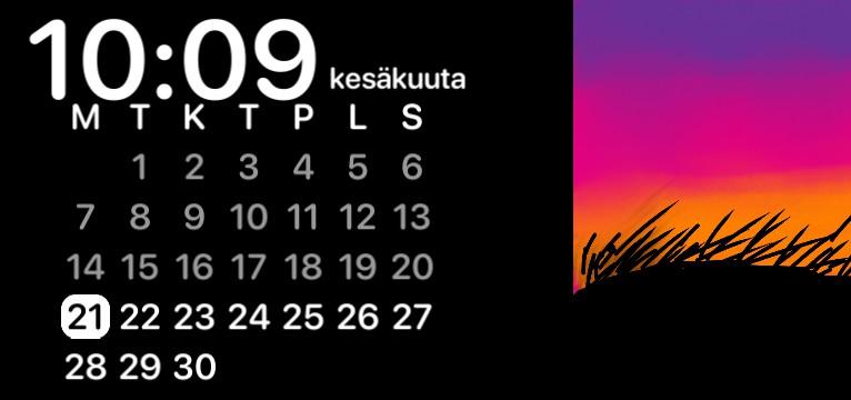 Calendar, clock