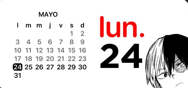 Todoroki shoto calendar