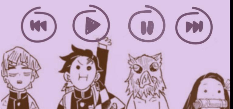 Demon Slayer Music Player