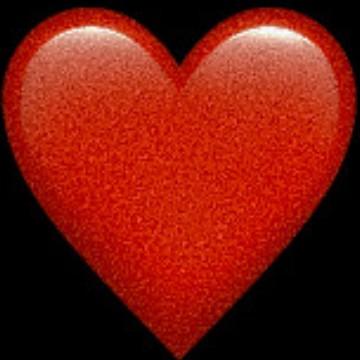 grainy heart