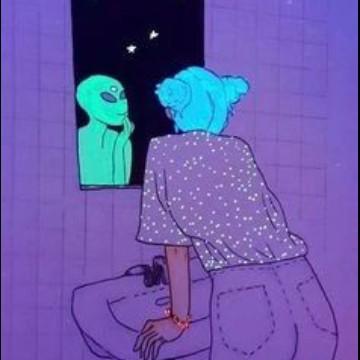 purple alien aesthetic