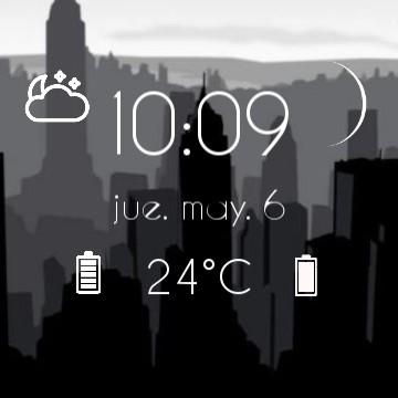 City black and white