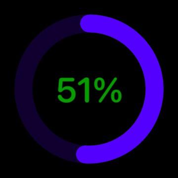 Battery Ring & Percentage with slick modern design