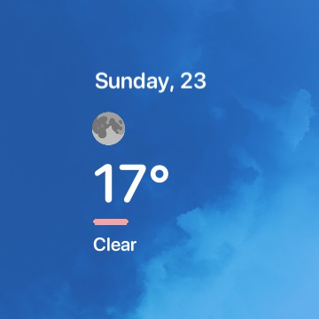 Date & Current Weather