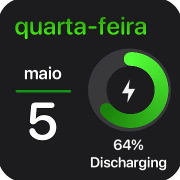 Battery + date + time GREEN Copy