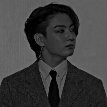 Jungkook BTS black and white