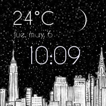Nice black and white city widget