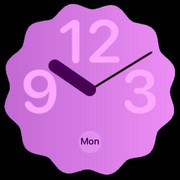 Android 12 clock gradient