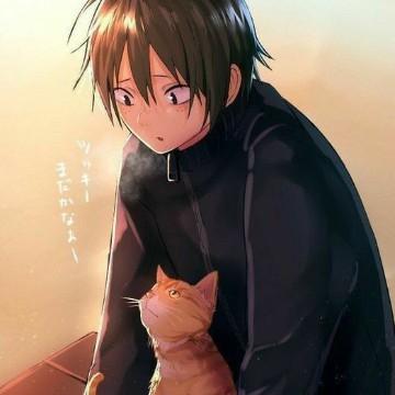 Yamaguchi and cat