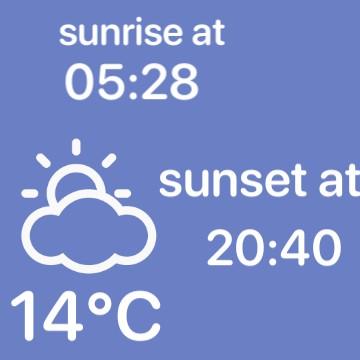 weater and sun widget