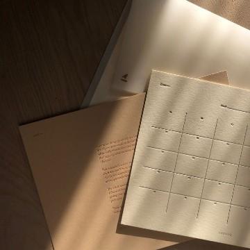 Brown aesthetic calendar