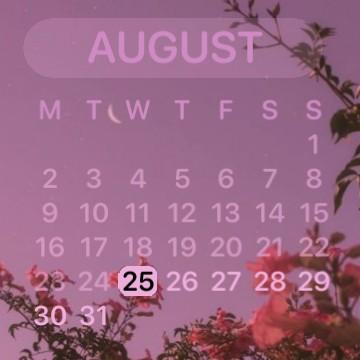 Pink purple calander