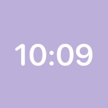 violet clock