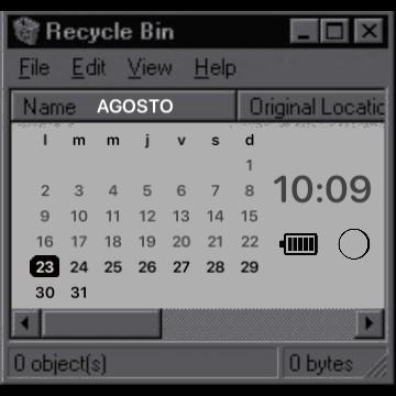 90s Computer Aesthetic Calendar