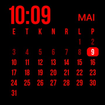 red calender