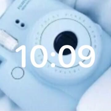 blue camera