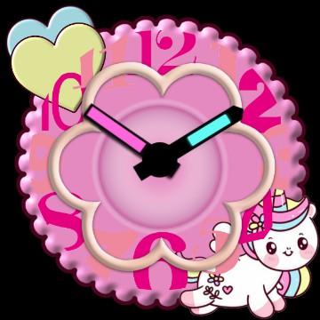 unicornio clock