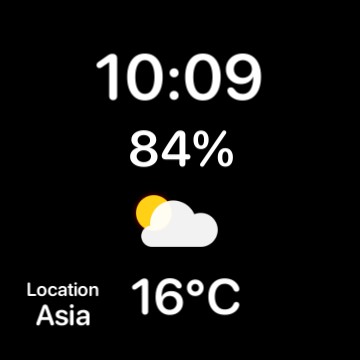 clock&battery&weather