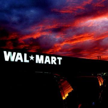 small Walmart in sunset