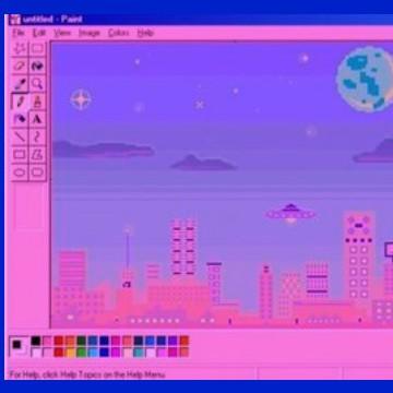 vaporwave nostalgic art glitchcore