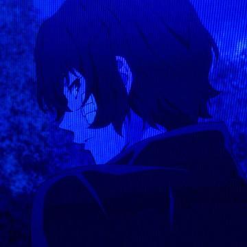 anime blue aesthetic