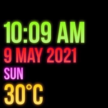 Todays texts neon