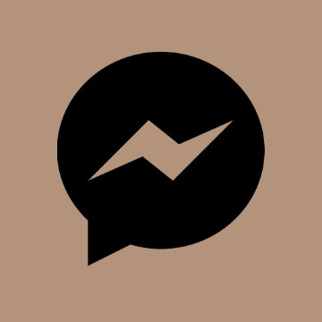 brown messenger icon