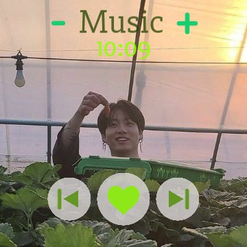 Jungkook music widget