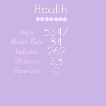 Aesthetic Health Widget