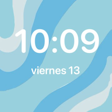 Clock and date blue widget